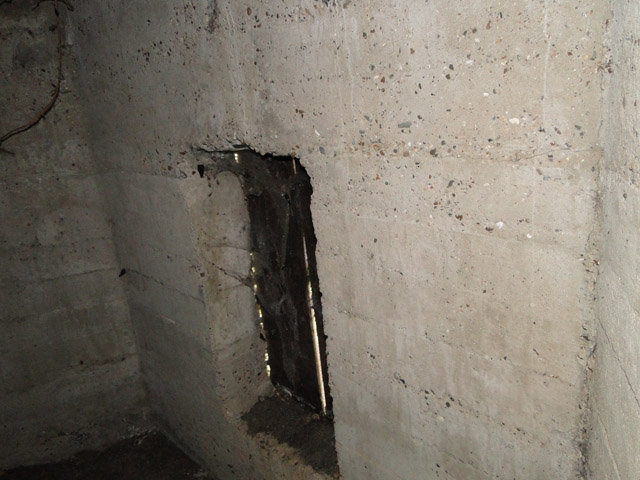 WWI pillbox (interior)