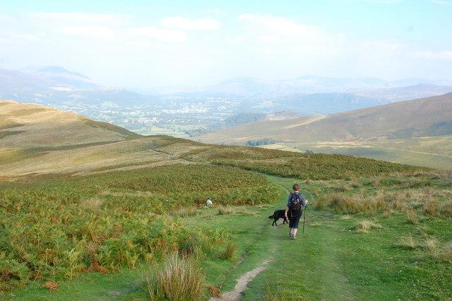 Ridge path off Grisedale Pike