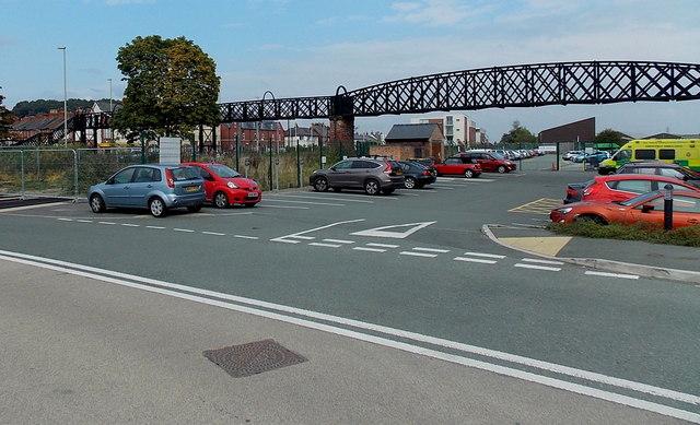 Disused footbridge in Oswestry