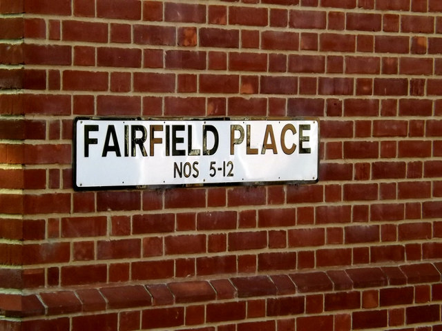 Fairfield Place sign