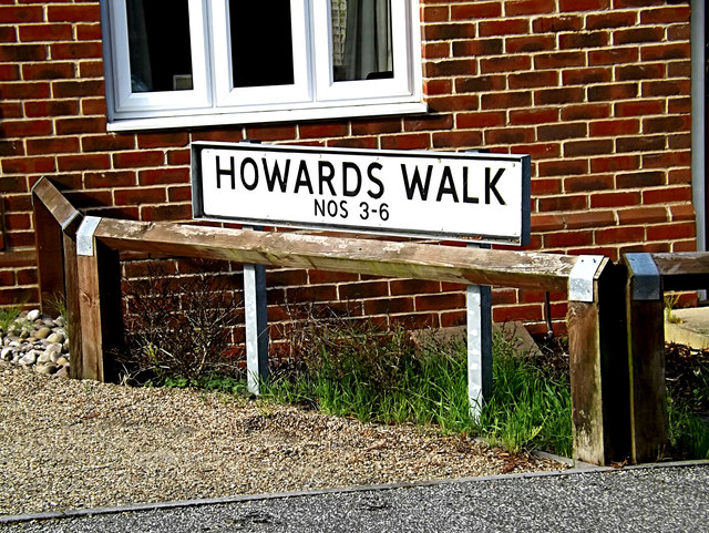 Howards Walk sign