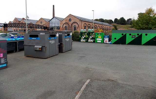 Recycling area in Oswestry