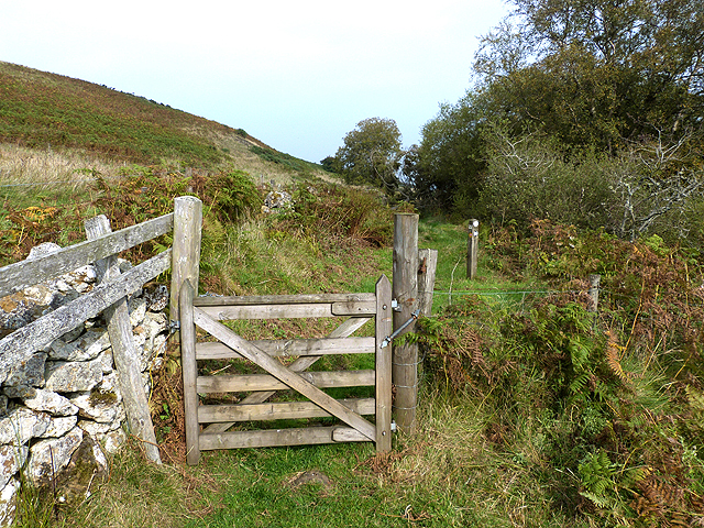 Gate on the Border Abbeys Way below Black Law