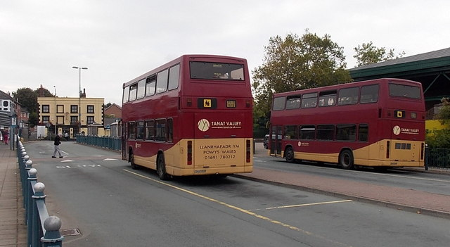 Tanat Valley double-deckers in Oswestry bus station