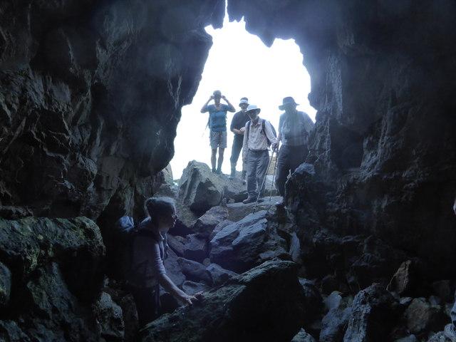 Inside St Patrick's cave
