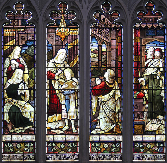 St John the Evangelist, Stratheden Road, Blackheath - Stained glass window