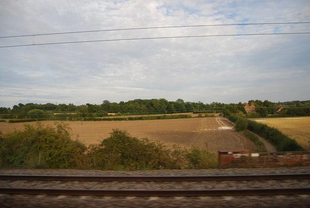 Track near Woodhall Farm