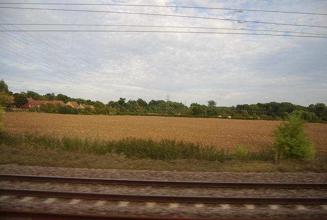 Farmland by the East Coast Main Line