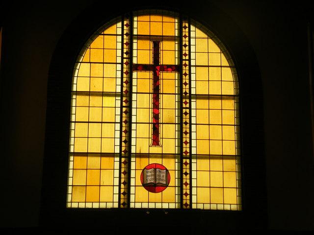 Carshalton Methodist Church stained glass window