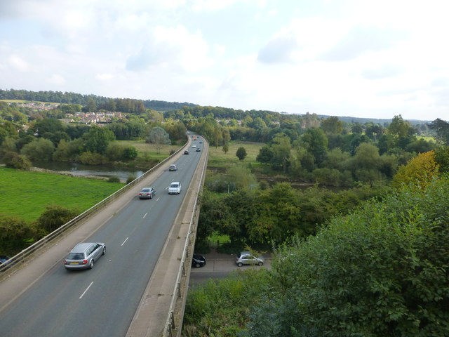 The A458 crosses the River Severn at Bridgnorth