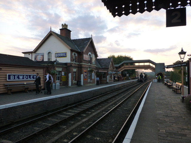 The end of a busy day at Bewdley Station