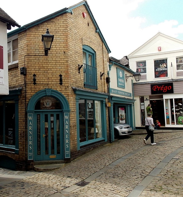Warners furniture shop in Shrewsbury