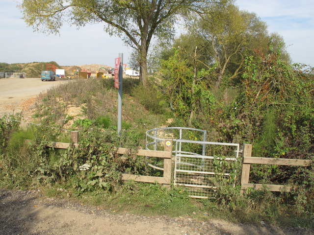 Public footpath from Moorend Lane, Thame