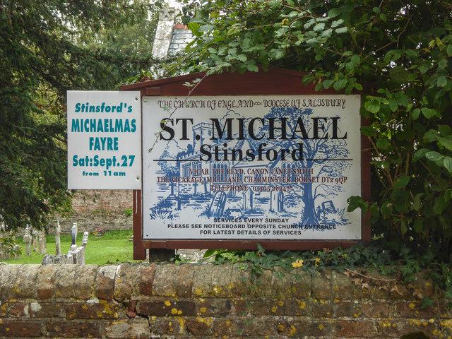 Information Board, St Michael's Church, Stinsford, Dorset