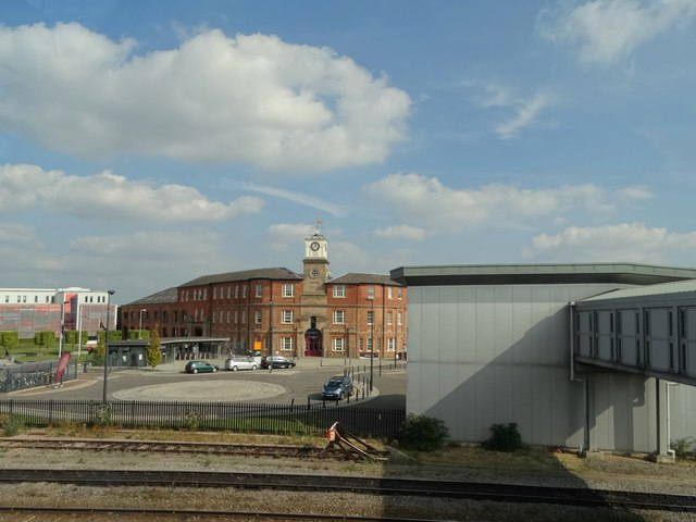 The Roundhouse from Derby Railway Station