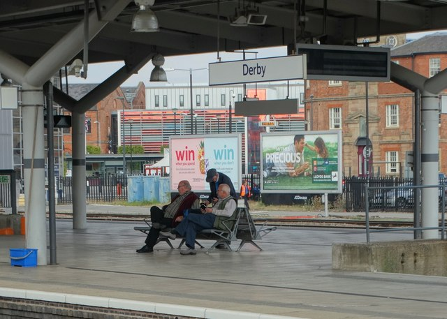 Waiting at Derby Station