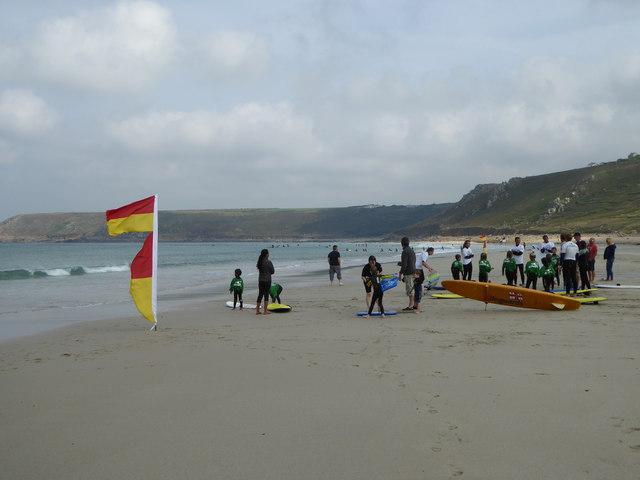 September scene on Sennen beach