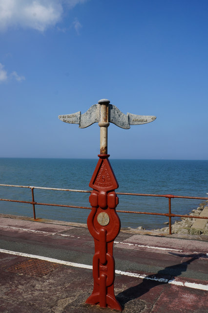 National Cycle Marker Post at Colwyn Bay