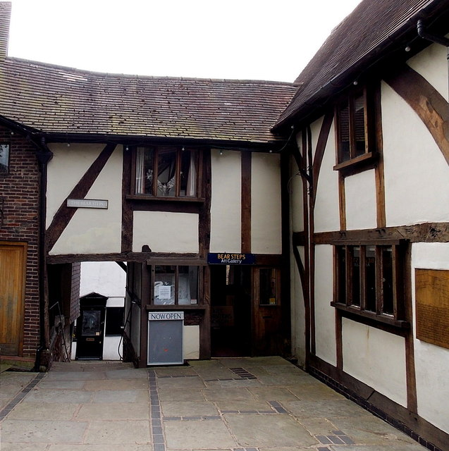 The Bear Steps and Bear Steps Art Gallery in Shrewsbury
