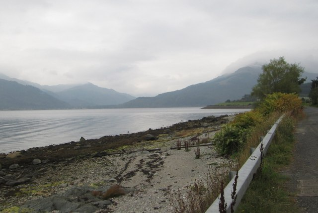 A view north at Loch Long
