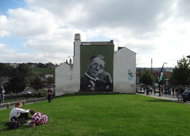 The Harry Brearley Mural in Sheffield