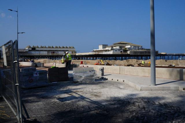 Working on the Promenade, Colwyn Bay