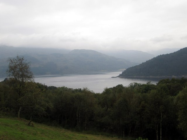 A view of Loch Long near its meeting with Loch Goil
