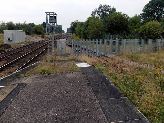 Disused track at Gobowen railway station