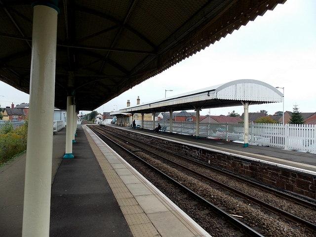 Station platform canopies, Gobowen