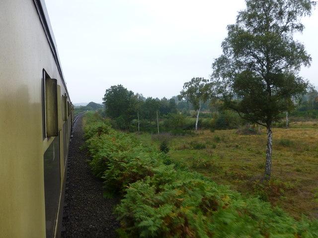 The Severn Valley Railway near Devils Spittleful