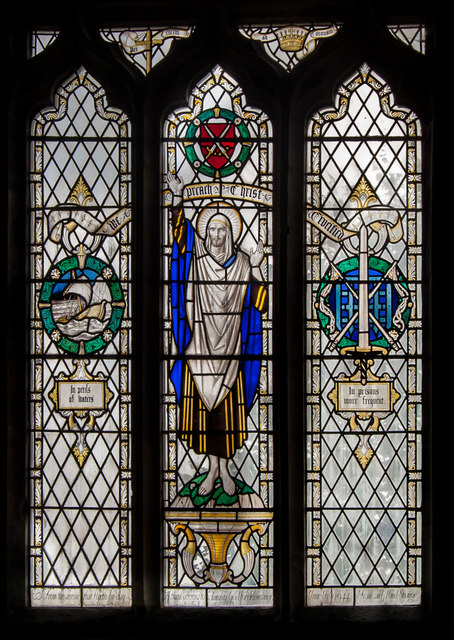 Stained glass window, St Mary's church, Willingdon