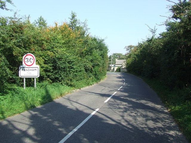 Entering Rendham