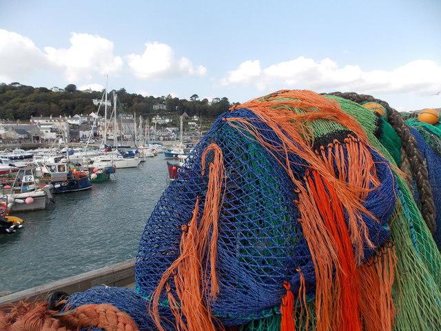 Lyme Regis: fishing paraphernalia at The Cobb