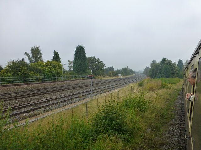 The SVR joins the main line at Kidderminster