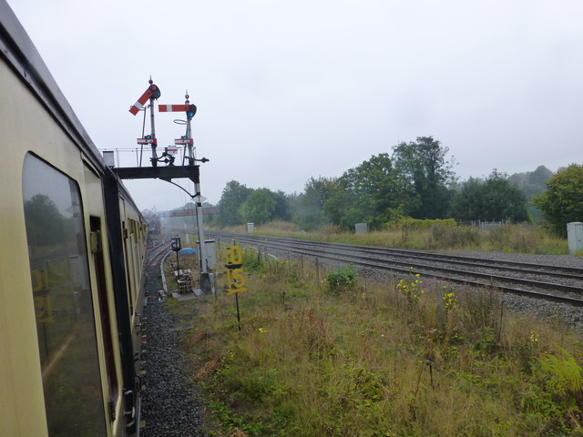 The approach to Kidderminster Station on the SVR