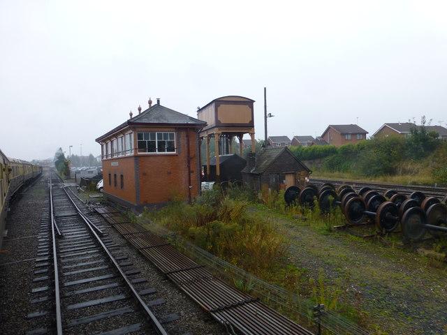 Kidderminster signal box on the SVR