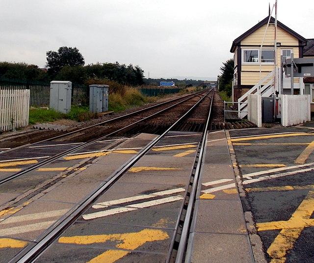 Railway towards Chirk from Gobowen
