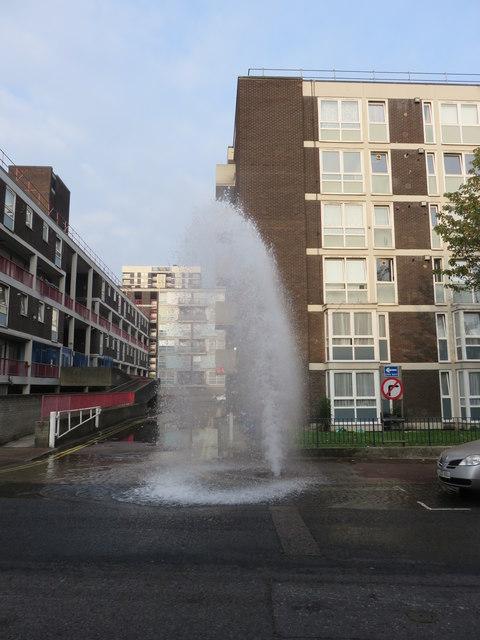 Water main on Hertford Road, Kingsland