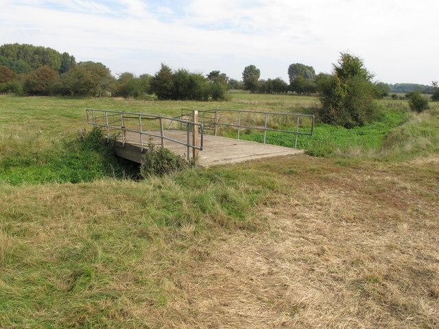 Public footpath crosses farm bridge