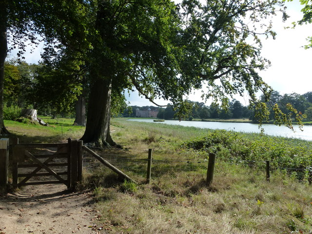 Gate and footpath by The Lake, Blickling