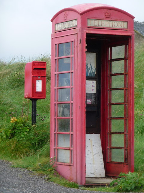Crossapol: postbox № PA77 114 and phone box