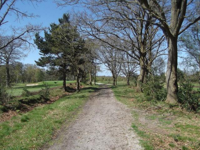 Footpath at Blackmoor Golf Club