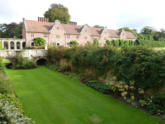Lawn in the moat