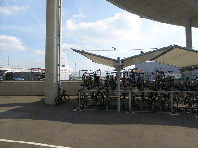 Bicycle storage at Heathrow Terminal 5