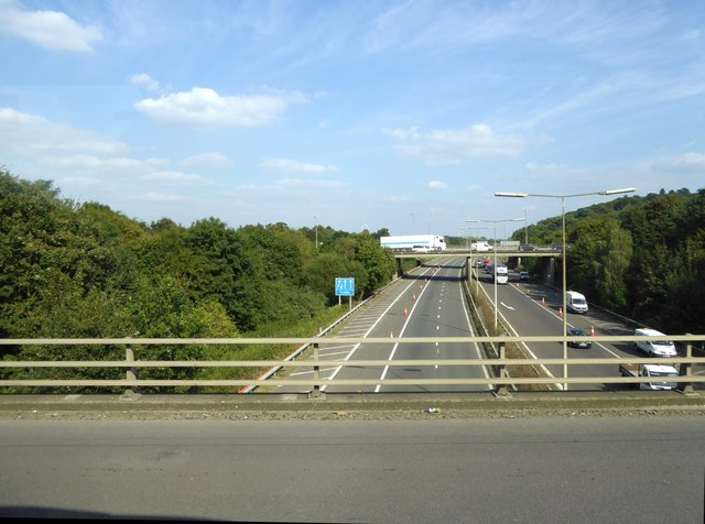 M3 east of M25 from M25 overbridge