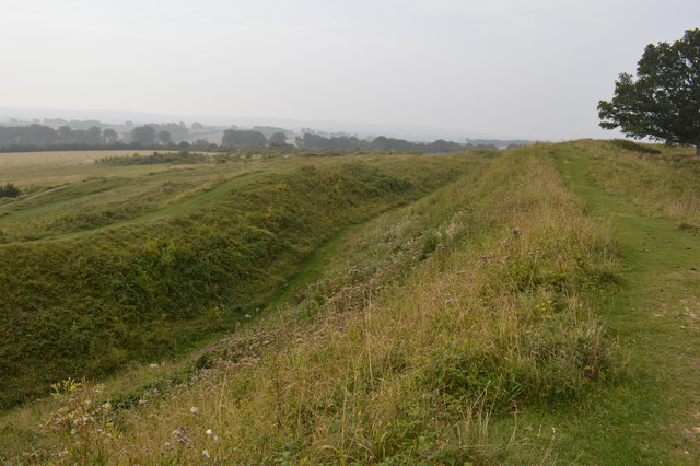 Earthworks at Badbury Rings