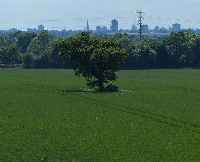 View towards Coventry city centre