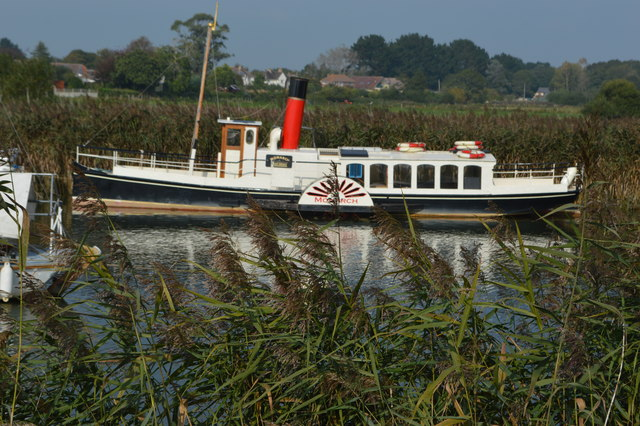 Paddle steamer Monarch on the River Frome