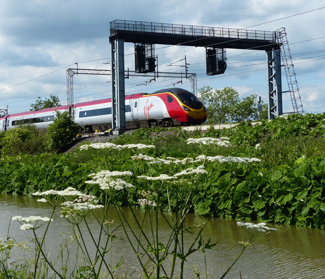 Virgin Pendolino train on the West Coast Main Line