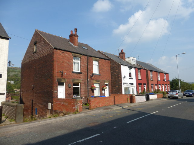 Terraced housing on Manchester Road